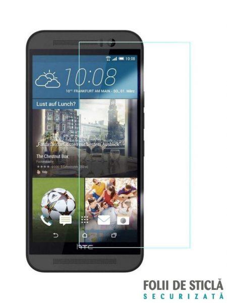 Folie din sticla securizata pentru HTC One M9 Plus