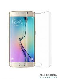 Folie curbată 3D din sticlă securizată pentru Samsung Galaxy S6 Edge TRANSPARENT