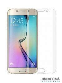 Folie curbată 3D din sticlă securizată pentru Samsung Galaxy S6 Edge+ Plus TRANSPARENT