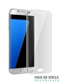 Folie curbată 3D din sticlă securizată pentru Samsung Galaxy S7 Edge TRANSPARENT (Full cover)