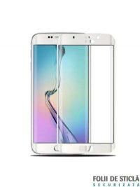 Folie curbată 3D din sticlă securizată pentru Samsung Galaxy S6 Edge ALB