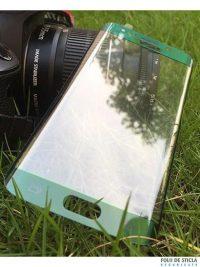 Folie curbată 3D din sticlă securizată pentru Samsung Galaxy S6 Edge VERDE