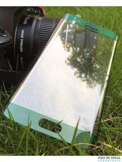 Folie curbată 3D din sticlă securizată pentru Samsung Galaxy S6 Edge+ Plus VERDE