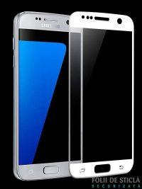 Folie Fullscreen 2.5D din sticla securizata pentru Samsung Galaxy S7 ALB