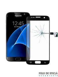 Folie Fullscreen 2.5D din sticla securizata pentru Samsung Galaxy S7 NEGRU