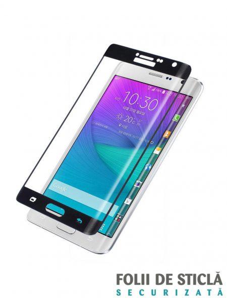 Folie curbată 3D din sticlă securizată pentru Samsung Galaxy Note Edge NEGRU