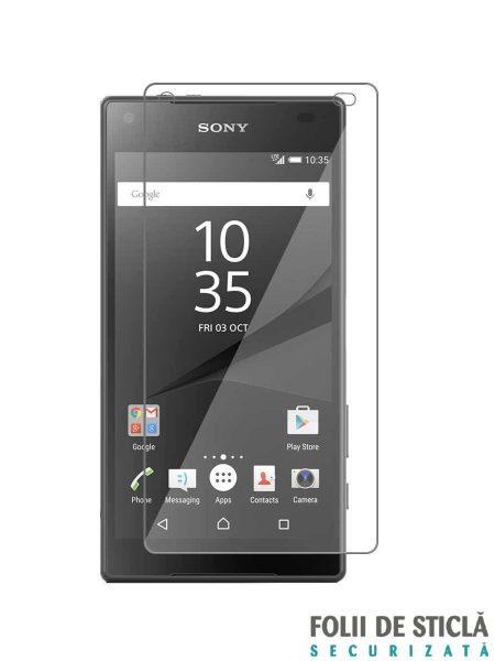 Folie din sticla securizata pentru Sony Xperia Z5 Compact (față)