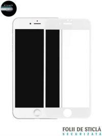 Folie ușor curbată 5D din sticlă securizată pentru iPhone 7 Plus - ALB
