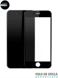 Folie ușor curbată 5D din sticlă securizată pentru iPhone 7 / 8 / SE (2020) - NEGRU