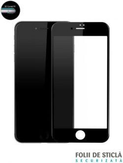 Folie curbată 5D din sticlă securizată pentru iPhone 7 - NEGRU