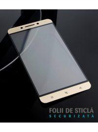 Folie Fullscreen 2.5D din sticla securizata pentru LeTv (LeEco) Pro 3 X720 GOLD