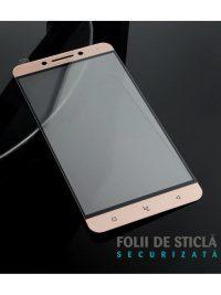 Folie Fullscreen 2.5D din sticla securizata pentru LeTv (LeEco) Pro 3 X720 ROSE GOLD