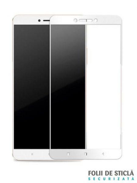 Folie Fullscreen 2.5D din sticla securizata pentru Xiaomi Mi Max ALB