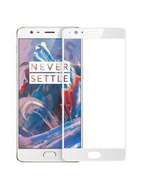 Folie Fullscreen 2.5D din sticla securizata pentru OnePlus 3 / 3T ALB