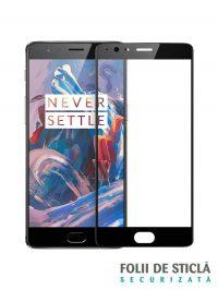 Folie Fullscreen 2.5D din sticla securizata pentru OnePlus 3 / 3T NEGRU