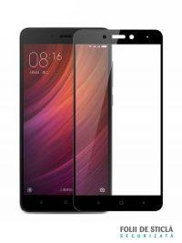 Folie Fullscreen 2.5D din sticla securizata pentru Xiaomi Redmi Note 4 NEGRU