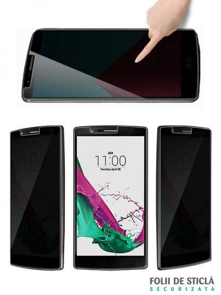 Folie din sticla securizata pentru LG G4 PRIVACY