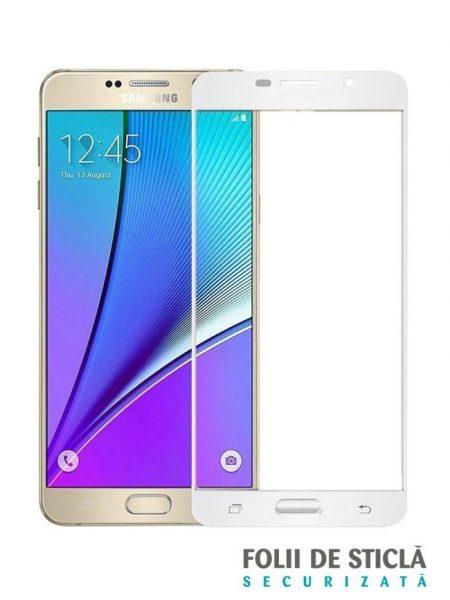 Folie Fullscreen 2.5D din sticla securizata pentru Samsung Galaxy A3 (2016) ALB