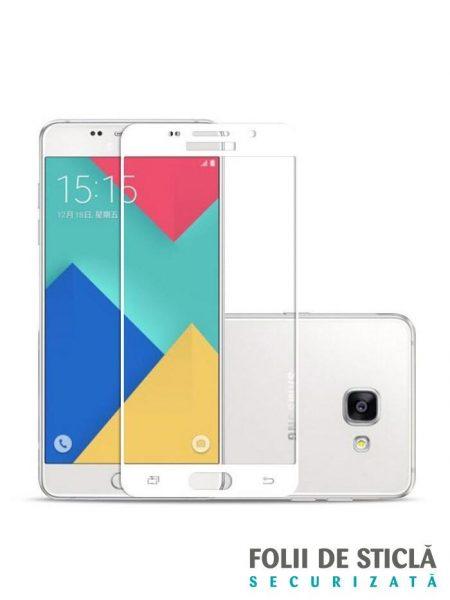 Folie Fullscreen 2.5D din sticla securizata pentru Samsung Galaxy A5 (2016) ALB
