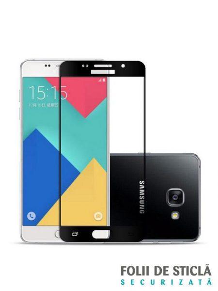 Folie Fullscreen 2.5D din sticla securizata pentru Samsung Galaxy A5 (2016) NEGRU