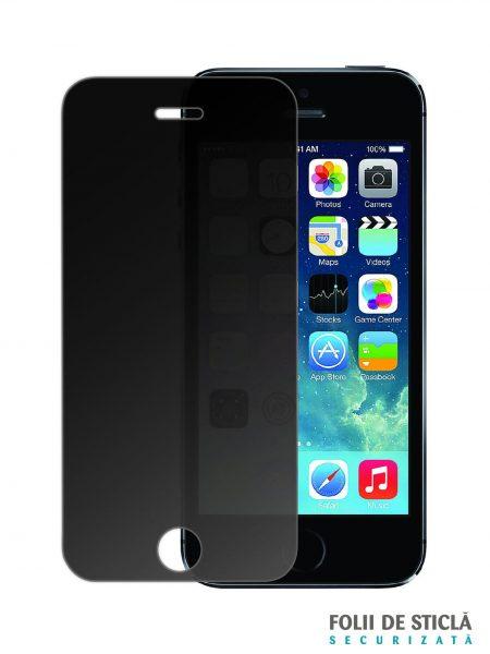 Folie din sticla securizata pentru iPhone 5 / 5S / 5C / SE PRIVACY
