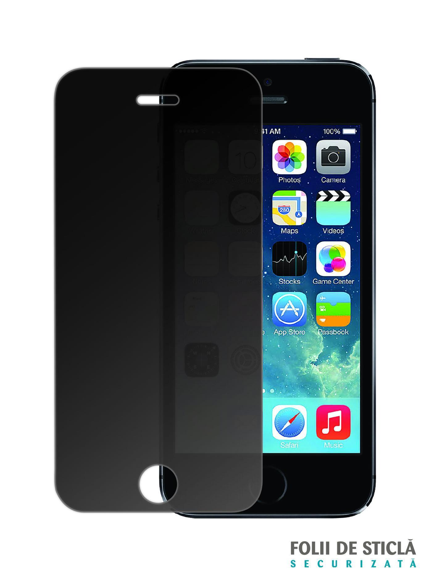 folie din sticla securizata pentru iphone 5 5s 5c se privacy