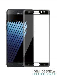 Folie curbată 3D din sticlă securizată pentru Samsung Galaxy Note 7 / FE NEGRU