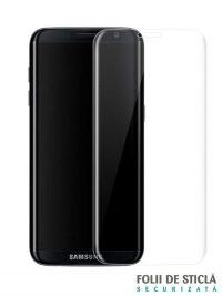 Folie curbată 3D din sticlă securizată pentru Samsung Galaxy S8+ TRANSPARENT (Full cover)