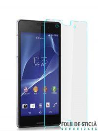 Folie din sticla securizata pentru Sony Xperia Z3 (față)