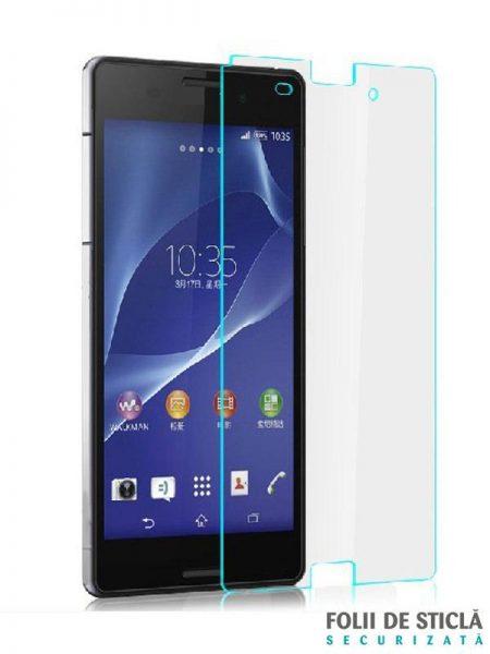 Folie din sticla securizata pentru Sony Xperia Z3 Compact (față)