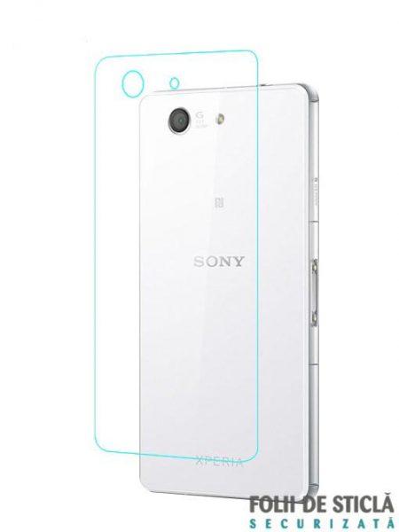Folie din sticla securizata pentru Sony Xperia Z3 Compact (spate)