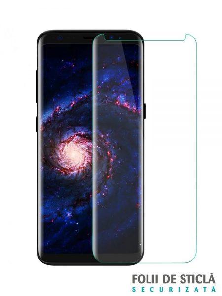 Folie curbată 3D din sticlă securizată pentru Samsung Galaxy S8 TRANSPARENT (Case-compatible)