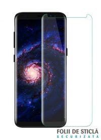 Folie curbată 3D din sticlă securizată pentru Samsung Galaxy S8+ TRANSPARENT (Case-compatible)