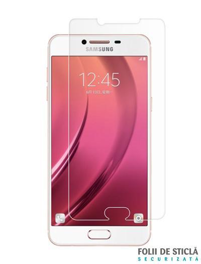 Folie din sticla securizata pentru Samsung Galaxy C7 / C7 Pro