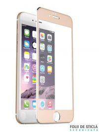 Folie curbată 3D/4D din sticlă securizată pentru iPhone 6/6S - GOLD
