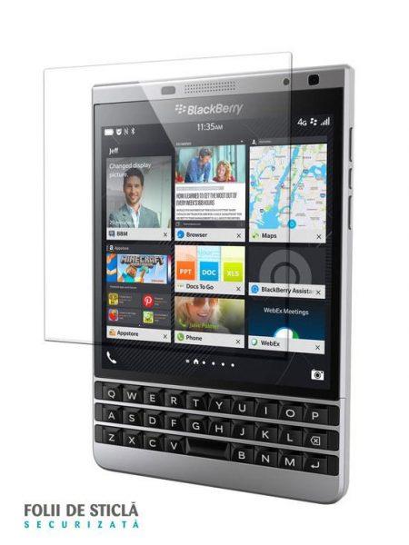 Folie din sticla securizata pentru BlackBerry Passport Silver