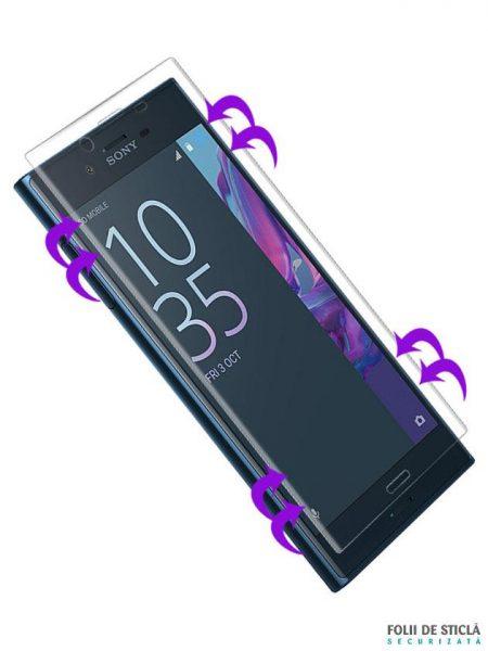 Folie curbată 3D din sticlă securizată pentru Sony Xperia X Performance TRANSPARENT