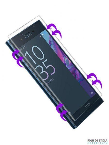 Folie curbată 3D din sticlă securizată pentru Sony Xperia X Compact TRANSPARENT