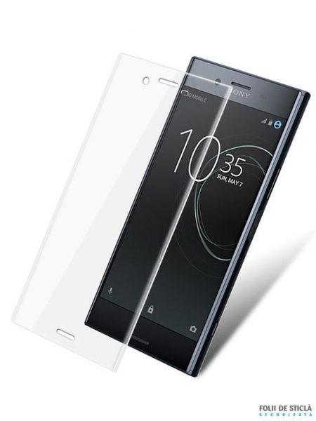 Folie curbată 3D din sticlă securizată pentru Sony Xperia XZ Premium TRANSPARENT