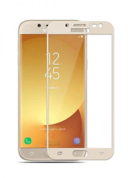 Folie curbată 3D din sticlă securizată pentru Samsung Galaxy J3 (2017) GOLD