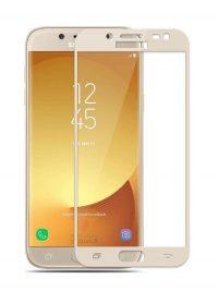 Folie curbată 3D din sticlă securizată pentru Samsung Galaxy J5 (2017) GOLD