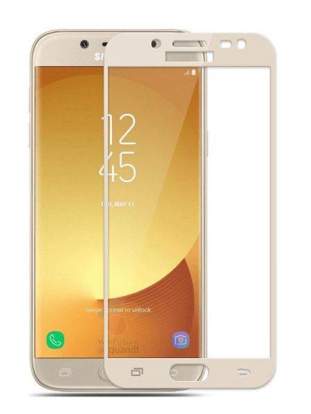 Folie curbată 3D din sticlă securizată pentru Samsung Galaxy J7 (2017) GOLD