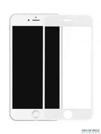 Folie curbată 4D/5D din sticlă securizată pentru iPhone 8 Plus - ALB