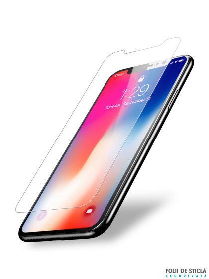 Folie din sticla securizata pentru iPhone X / XS