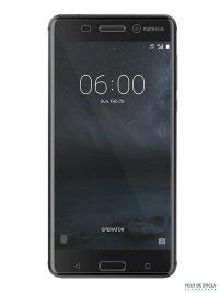 Folie curbată 3D din sticlă securizată pentru Nokia 6 TRANSPARENT (full cover)
