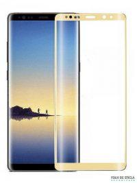 Folie curbată 3D din sticlă securizată pentru Samsung Galaxy Note8 GOLD (Full cover)