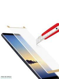 Folie curbată 3D din sticlă securizată pentru Samsung Galaxy Note8 GOLD (Case-compatible)