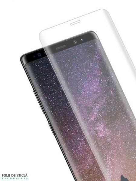 Folie curbată 3D din sticlă securizată pentru Samsung Galaxy Note8 TRANSPARENT (Full cover)