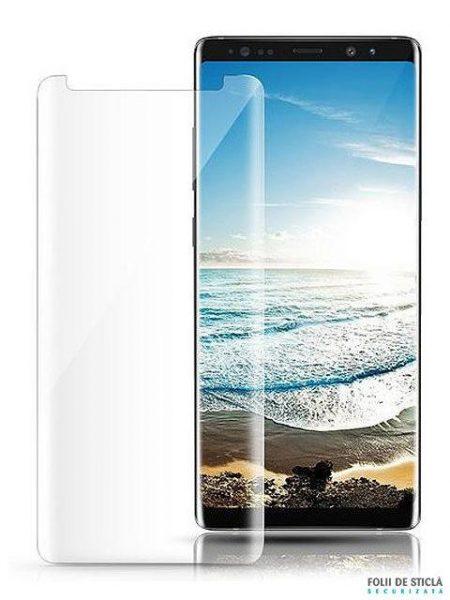 Folie curbată 3D din sticlă securizată pentru Samsung Galaxy Note8 TRANSPARENT (Case-compatible)