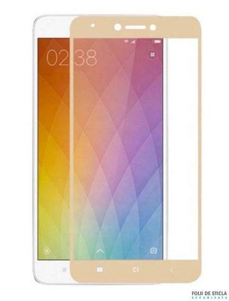 Folie Fullscreen 2.5D din sticla securizata pentru Xiaomi Redmi Note 4X GOLD